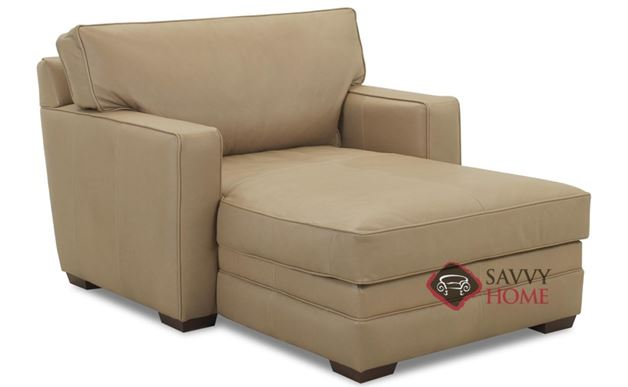 Houston Leather Chaise Lounge