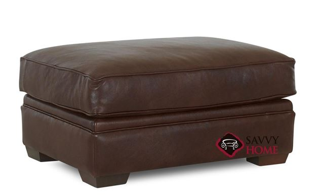 Houston Leather Ottoman