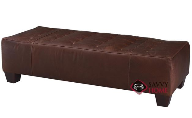 Wayne Manor Leather Ottoman by Savvy