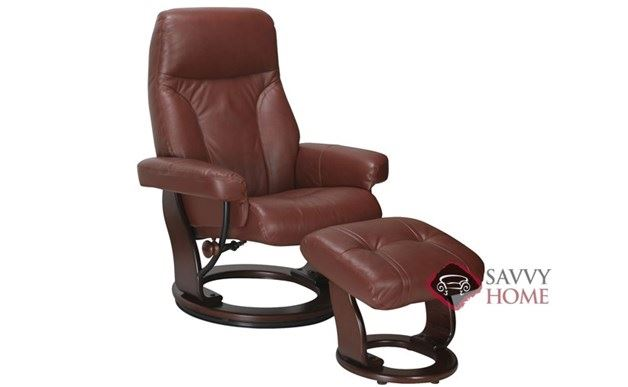 Milano Benchmaster Leather Recliner in Top-Grain Cognac