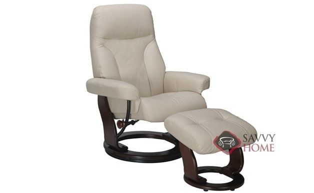 Milano Benchmaster Leather Recliner in Top-Grain Taupe