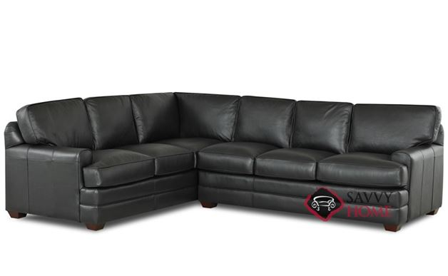 Halifax Leather True Sectional (RAF)