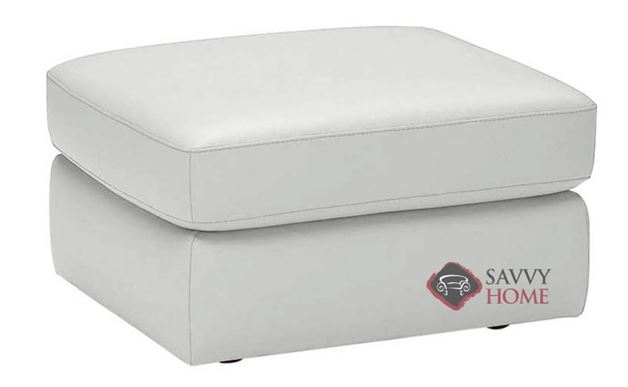 A397 Leather Ottoman shown in Belfast White