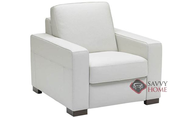 A397 Leather Recliner in Belfast White