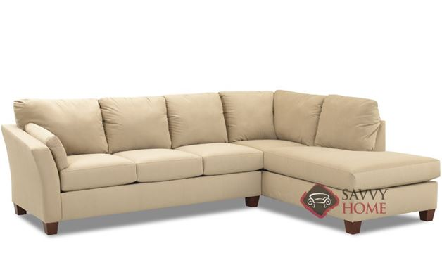 Sienna Queen Chaise Sectional Sofa Bed by Savvy