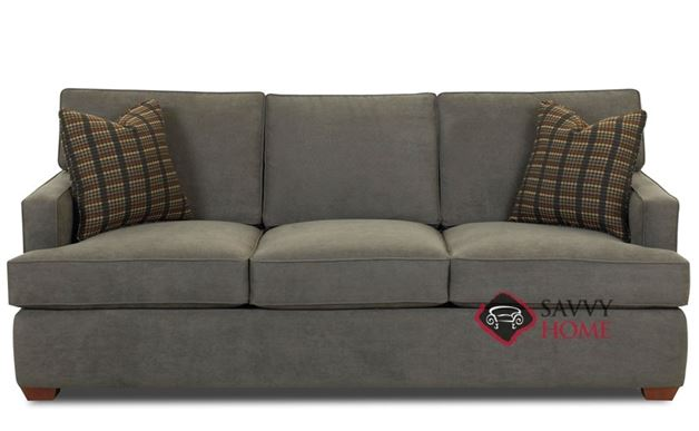 Lincoln Sofa by Savvy shown in Dumdum Charcoal