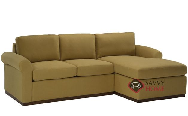 Eclipse Chaise Sectional with 2-Cushion Condo Queen Sleeper