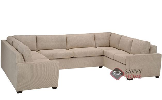 Geo U-Sectional 2-Cushion Condo Queen Sleeper