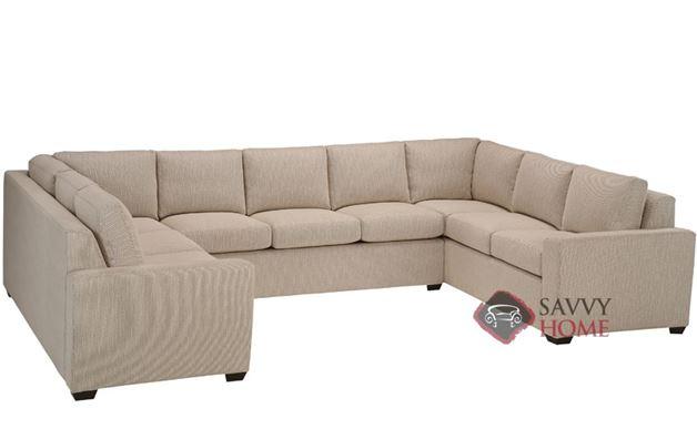 Geo U-Shape True Sectional with 3-Cushion Earth Designs Sofa by Lazar