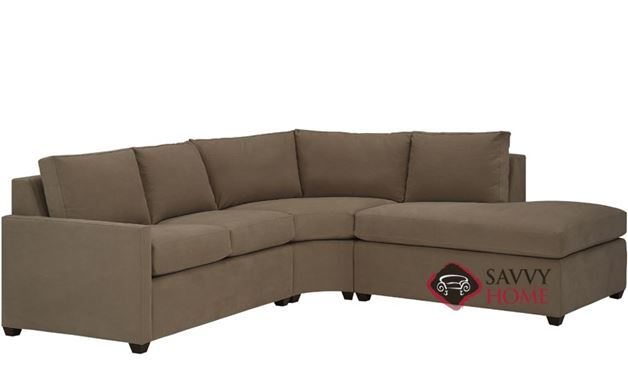 Terra Chaise Sectional with 2-Cushion Earth Designs Condo Sofa by Lazar