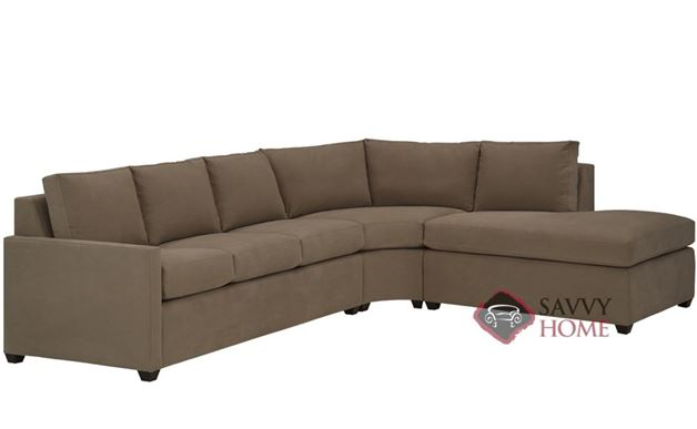 Terra Chaise Sectional with 3-Cushion Earth Designs Sofa by Lazar