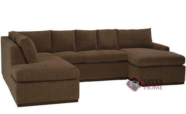 Terra U-Shape Sectional with 3-Cushion Earth Designs Sofa by Lazar