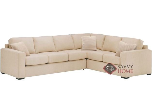 Sutton Place True Sectional with 3-Cushion Sofa by Lazar Industries