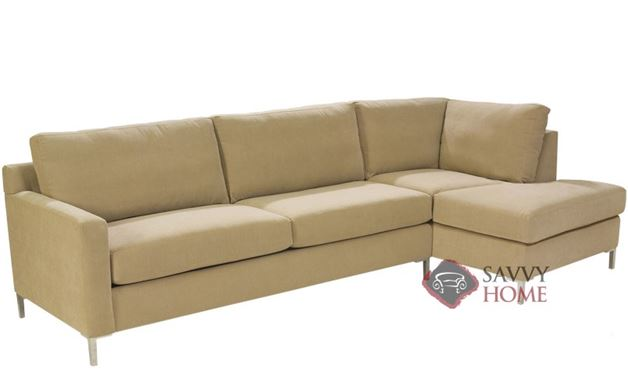 Soho II Chaise Sectional With 2 Cushion Sofa By Lazar Industries