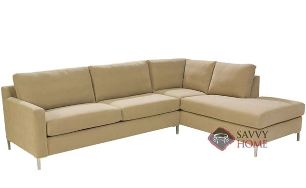 Soho II Loveseat Chaise Sectional with 2-Cushion Queen Sleeper