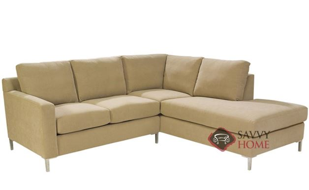 Soho Loveseat Chaise Sectional with 2-Cushion Twin Sleeper