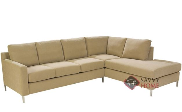 Soho Loveseat Chaise Sectional with 3-Cushion Sofa by Lazar Industries