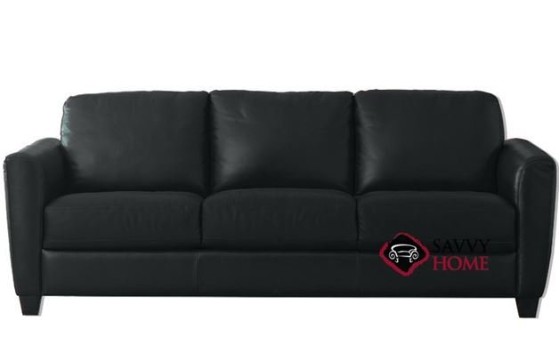 B592 Queen Leather Sleeper Pictured In Denver Black