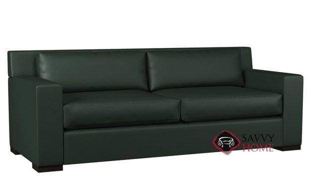 Corvo 2-Cushion Leather Queen Sleeper by Lazar Industries
