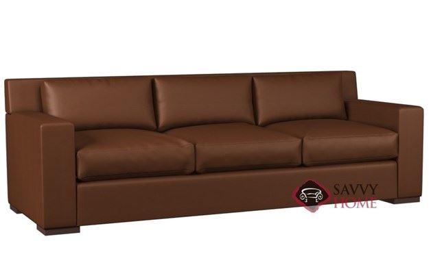 Corvo 3-Cushion Leather Queen Sleeper by Lazar Industries