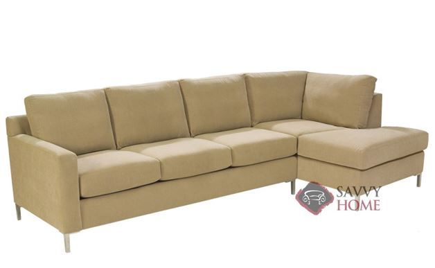 Soho Chaise Sectional with 3-Cushion Queen Sleeper