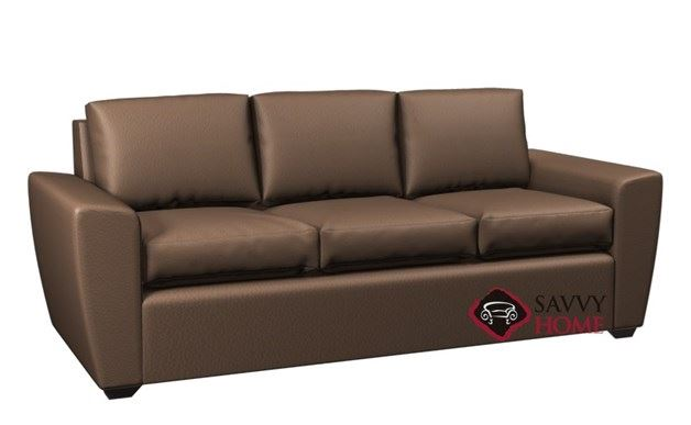 Geo 3-Cushion Leather Queen Sleeper by Lazar Industries