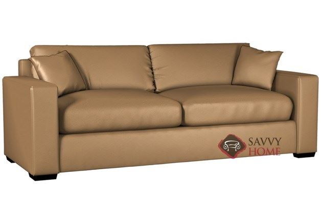 Sutton Place II 2-Cushion Leather Queen Sleeper by Lazar Industries