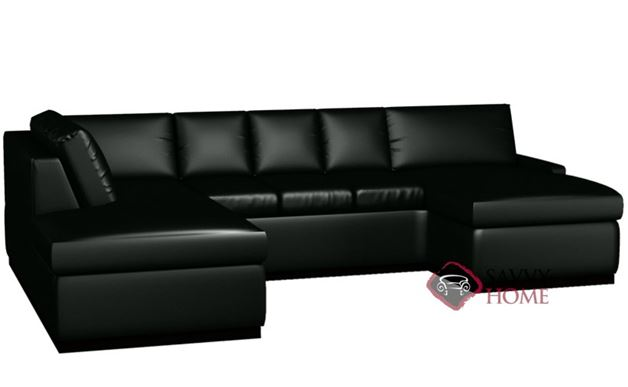 Terra Leather U-Shape Sectional with 3-Cushion Sofa by Lazar Industries