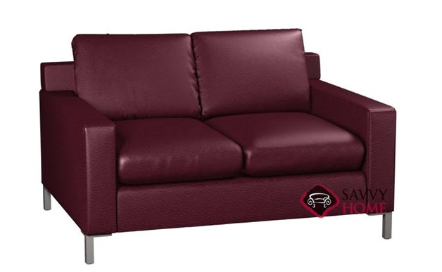 Soho 2-Cushion Leather Loveseat by Lazar Industries