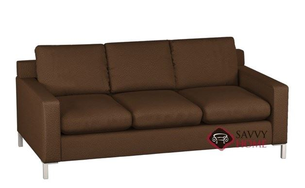 Soho 3-Cushion Leather Queen Sleeper by Lazar Industries