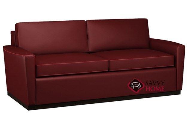 Harmony 2-Cushion Leather Queen Sleeper