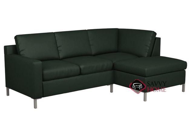 Soho Leather Chaise Sectional with 2-Cushion Loveseat by Lazar Industries