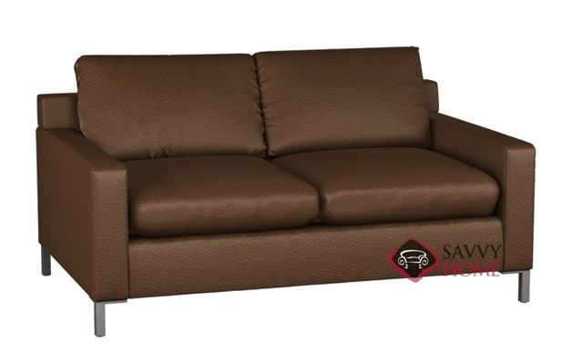 Soho II Leather 2-Cushion Full Sleeper by Lazar Industries