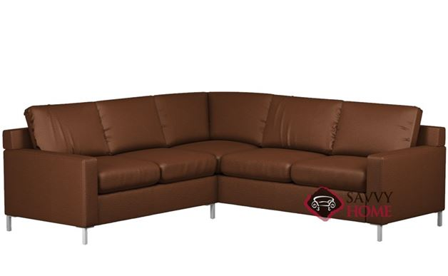 Soho II Leather True Sectional with 2-Cushion Sofa by Lazar Industries
