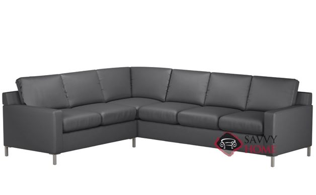 Soho Leather True Sectional with 3-Cushion Sofa by Lazar Industries