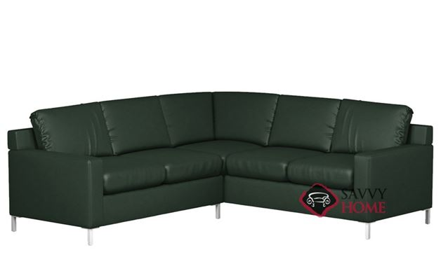 Soho Leather True Sectional with 2-Cushion Loveseat by Lazar Industries