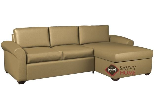 Eclipse Leather Chaise Sectional with 2-Cushion Condo Sofa by Lazar Industries