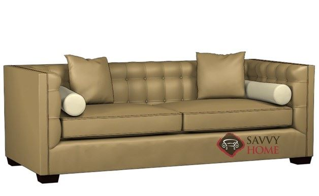 Tommy Leather Queen Sleeper by Lazar Industries