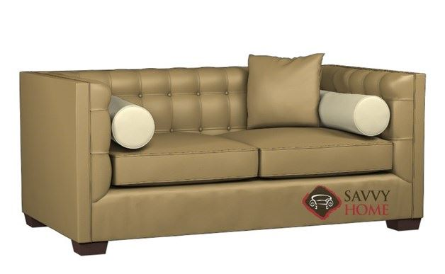 Tommy Leather Twin Sleeper by Lazar Industries