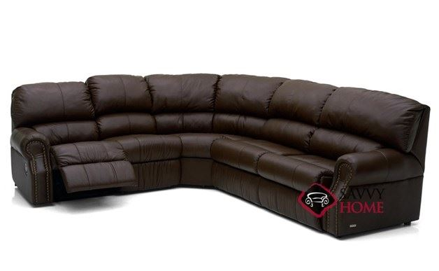 Charleston Reclining True Sectional Leather Sleeper Sofa
