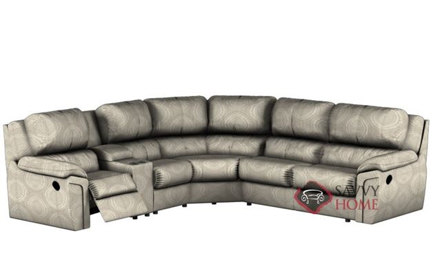 Daley Large Reclining True Sectional Sofa with Console by Palliser--Power Upgrade Available