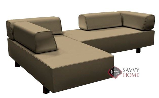 Calabasas Leather True Sectional by Lazar Industries