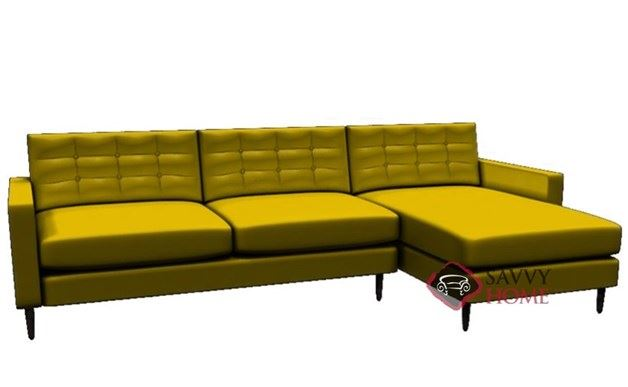 Paramount Leather Chaise Sectional by Lazar Industries