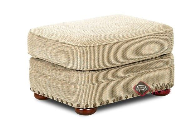 Carnation Ottoman by Savvy in Deluxe Platinum