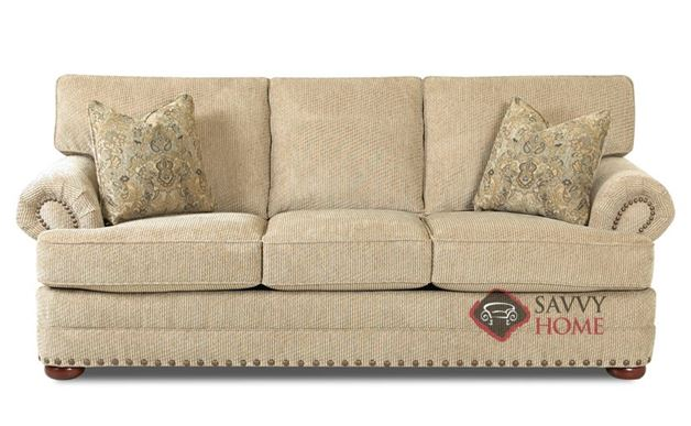 Carnation Sofa by Savvy in Deluxe Platinum