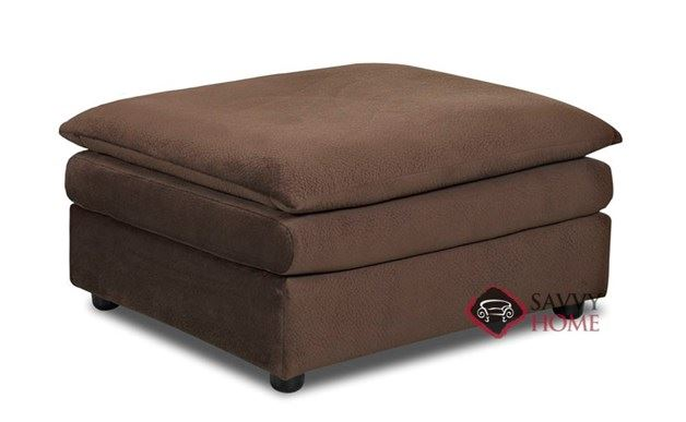 Harrington Ottoman by Savvy in Challenger Chocolate