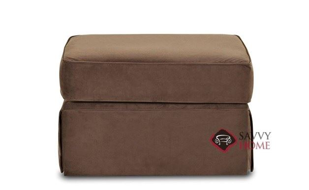 Woodinville Ottoman by Savvy in Bruges Chocolate
