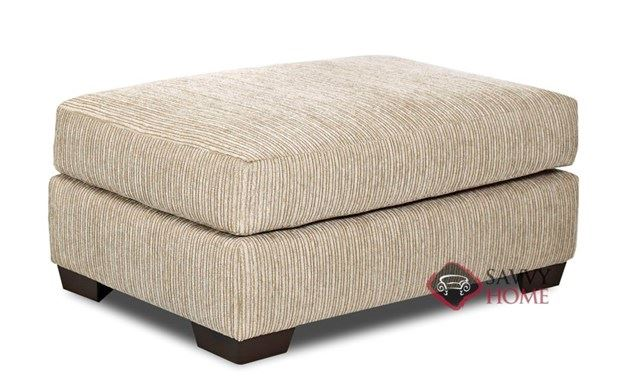 Tonasket Ottoman by Savvy in Buster Putty