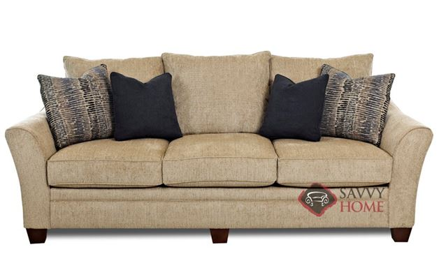 Poulsbo Sofa by Savvy in Wooten Sandstone