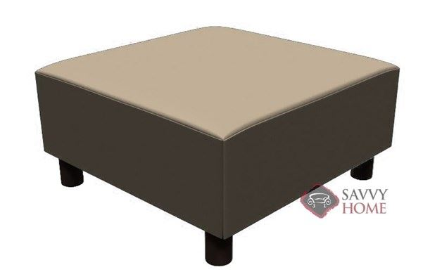 Calabasas Leather Square Ottoman by Lazar Industries